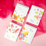 Fruit Party Spiral Ruled Notepad A6