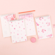 Sakura Flower Spiral Ruled Notepad A5