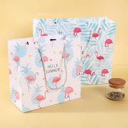 Hello Summer Flamingo Fancy Paper Bag