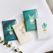 Cactus in a Pot Leather Passport Case
