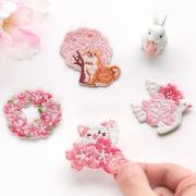 Sakura Series Embroidery Patch Sticker