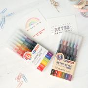 Rainbow Retro Needle Point Pen Set 6pc