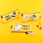 Cool Yellow Fruit Canvas Pencil Case