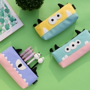 Cute Scary Monster Canvas Pencil Case