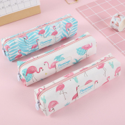 Hello Summer Flamingo Canvas Pencil Case Tube