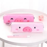 Piggy Closeup Canvas Pencil Case