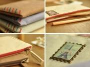 Postage Stamp Canvas Pencil Case
