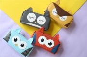 Sleeping Owl Canvas Pencil Case