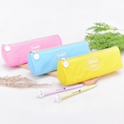 Sweet Color Canvas Pencil Case