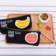 Sweet Fruit Style Canvas Pencil Case