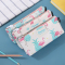 Hello Summer Flamingo Canvas Pencil Case Flat