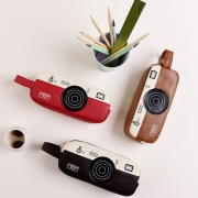 Camera Style Leather Pencil Case