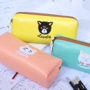 Lovely Cat Leather Pencil Case
