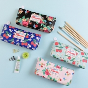 Lifestyle Flowers Leather Pencil Case