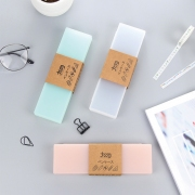 Matte Color Plastic Pencil Case