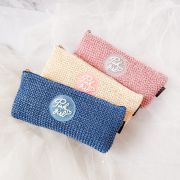 Pink Girl Knit Style Pencil Case