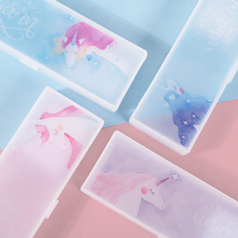fantasy unicorn plastic pencil case  panmomo  belanja