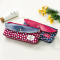 Flowery Red and Blue Two Pockets Pencil Case