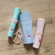 Beauty and Peace Roll Up Pencil Case