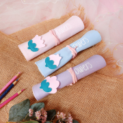 Lovely Flower Roll Up Pencil Case