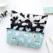 Cat Pattern Rubber Pencil Case