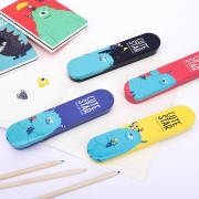 Cute Star Blue Alien Tin Pencil Case