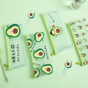 Hello Avocado Transparent Pencil Case