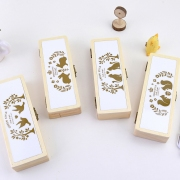 Animal Couple Wooden Pencil Case