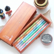 Plant Wooden Pencil Case