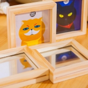 Cat Family Wooden Photo Frame Small