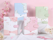 The Language of Sakura Fabric Cover Planner