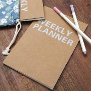 Kraft Weekly Planner A5