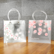 Cherry Blossoms Fancy Plastic Bag