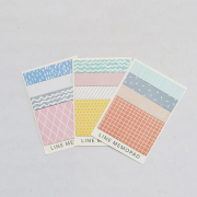 Simple Pattern Stick Label Post-its