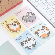 Snuggling Cat Sticky Notes Post-its