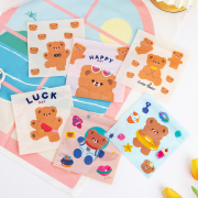 Rabbit and Bear Resealable Mini Plastic Pouch