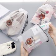 Popular Bear Plastic Drawstring Pouch
