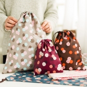 Triple Floral Drawstring Pouch Set