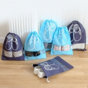 Blue Drawstring Shoes Pouch Large
