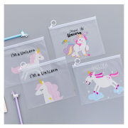 Magical Unicorn Plastic Zipper Pouch