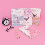 Cute Whale Spiral Ruled Notebook B5