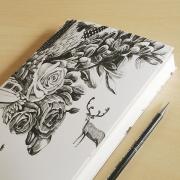 Forest Deer Sketch Book
