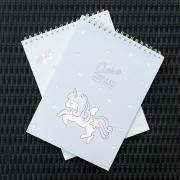 Ciara Unicorn Spiral Sketchbook A4