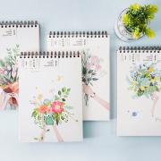 Floras Garden Spiral Sketchbook A5