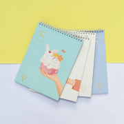Animal Ice Cream Spiral Sketchbook B4