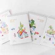 Pot Plant House Spiral Sketchbook B5