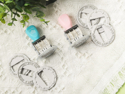 Round Deco Frame Date Stamp