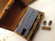 Wooden 70pc Alphanumeric Stamp