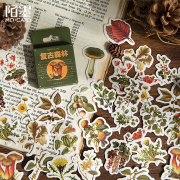 Retro Style Forest Flake Stickers Set