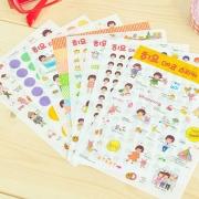 Mushroom Head Girl Stickers